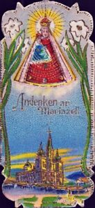 Mary-Zell-Pilgrimage-Holy-Icon-Devotional-Picture-Austria-Coloured-M-5928