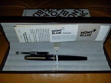 MONTBLANC  M320 BLACK FOUNTAIN PEN  WITH CONVERTER 14K GOLD MED PT NEW IN BOX