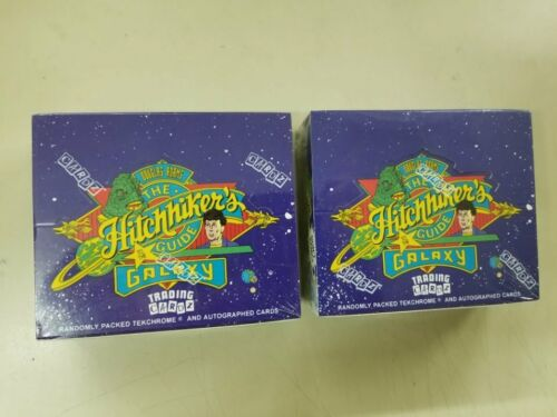 2 Box LOT 1994 The Hitchhikers Guide to the Galaxy Trading Cardz Factory Sealed