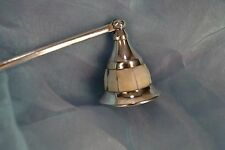 Vintage Candle Snuffer Mother Of Pearl / Abalone-type Shell Handle BEAUTIFUL