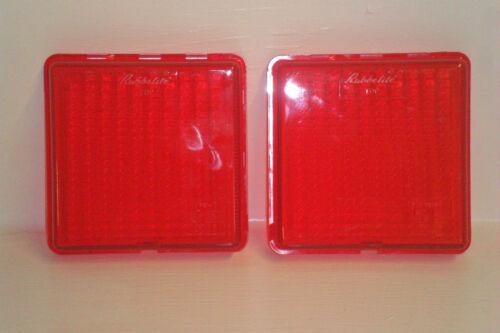 2 x GENUINE Rubbolite Replacement Fog Lenses for Ifor Williams *FREE DEL*
