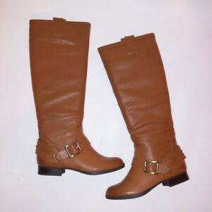 Details about Just Fab Boots Remy Size 5.5 Cognac