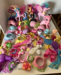 My Little Pony Large Mixed Lot Ponies and Accessories  2 1/2 lbs Collectable