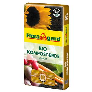 Floragard Bio Komposterde 1x50L Hochwertig Grünkompost Kompost NEU