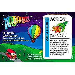 Fluxx Zap-A-Card Promo Postcard