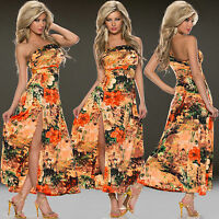 Sexy Ladies Summer Maxi Dress One Shoulder Party Dress Ladies Top Size 6 8 10 12