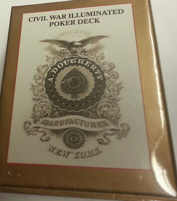 CIVIL WAR ILLUMINATED REPLICA PLAYING CARD DECK