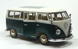 vw bus bulli t1 1962 1 24 gr n wei modellauto ca 18cm. Black Bedroom Furniture Sets. Home Design Ideas