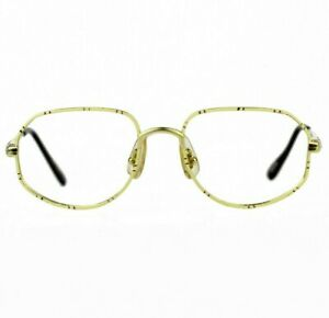 NOS 80s NAF NAF Betty vintage glasses gold metal eyeglasses optical frames OG