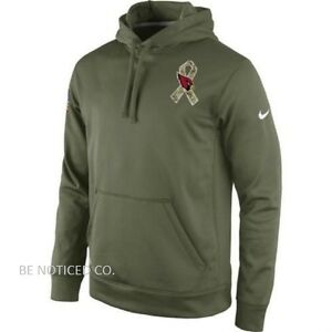 2550b249 Details about Nike Arizona Cardinals Salute to Service KO Performance Men's  Hoodie S Green New