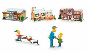 Simpsons Christmas Village.Details About The Simpsons Christmas Village Set 3 Houses W Kwik E Mart And 2 Figures W Bart