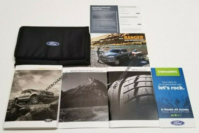 2019 Ford Ranger Owners Manual Super Crew V4 I5 Gas Diesel Manual Guide