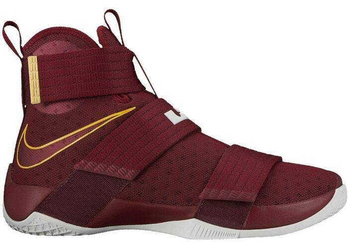 Nike Lebron Soldier 10 X CTK size 11. Team Red gold. Christ the King 844374-668