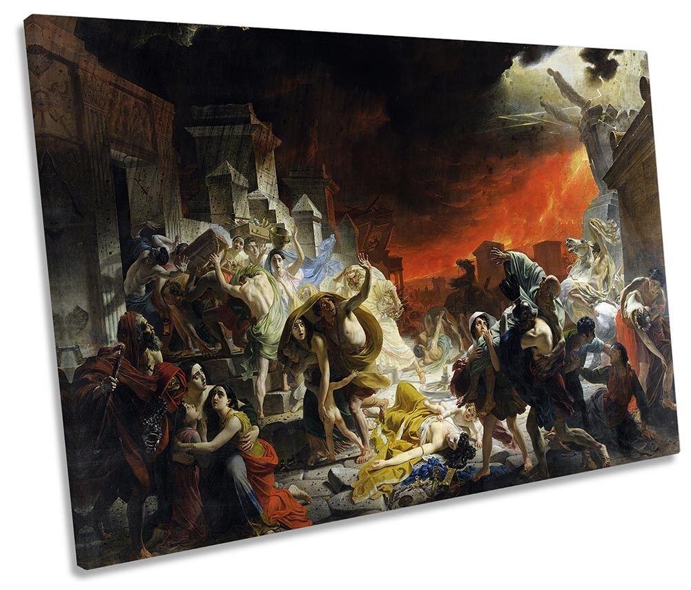 Karl Brullov The Last Day of Pompeii SINGLE CANVAS WALL ART Print