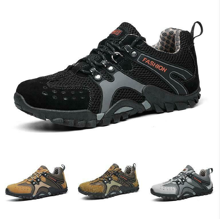 Mens shoes Hiking Ourdoor Trail Sneaker Breathable Mesh Mid Comfort shoes Ths01