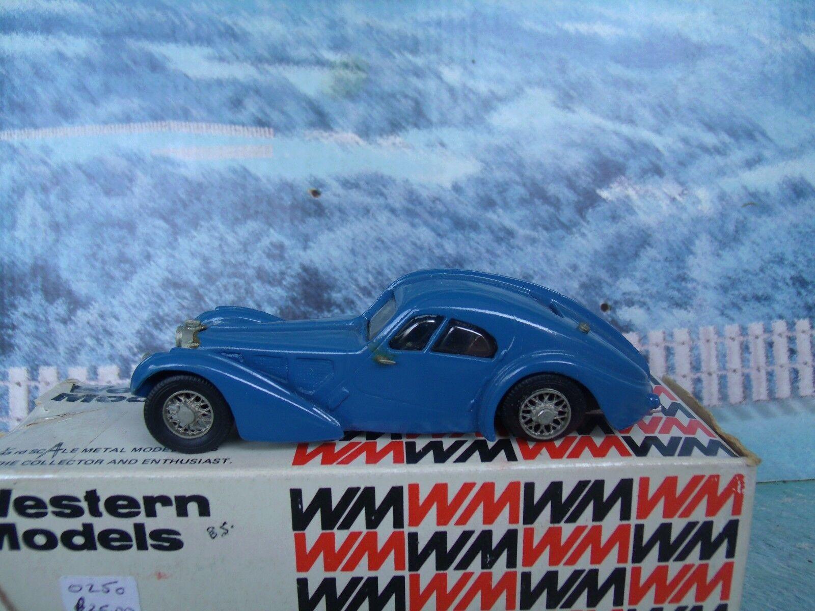 1   43 westliche modelle (england) 1938 bugatti typ 57sc atlantic weißes metall