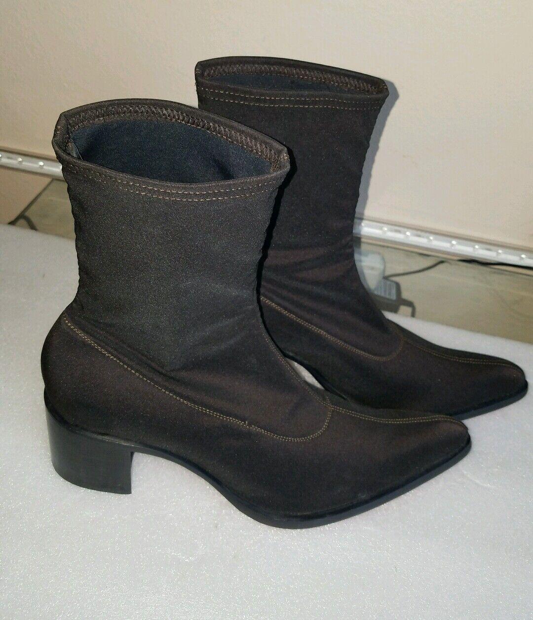 Red Sole Women's Solid Dark Brown Nathalie Ankle Platform Boot Size 39 1 2