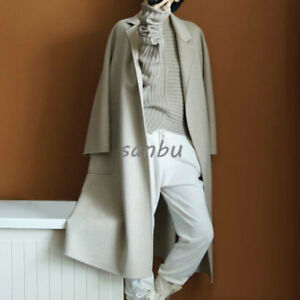 Women's Cashmere Jacket Wool Parka Winter Long Coats Overcoat Casual Trench 100 E5rwnqzE