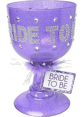 Bride To Be Pimp Cup Purple Bling Gag Gift Wedding Bridal Bachelorette Party