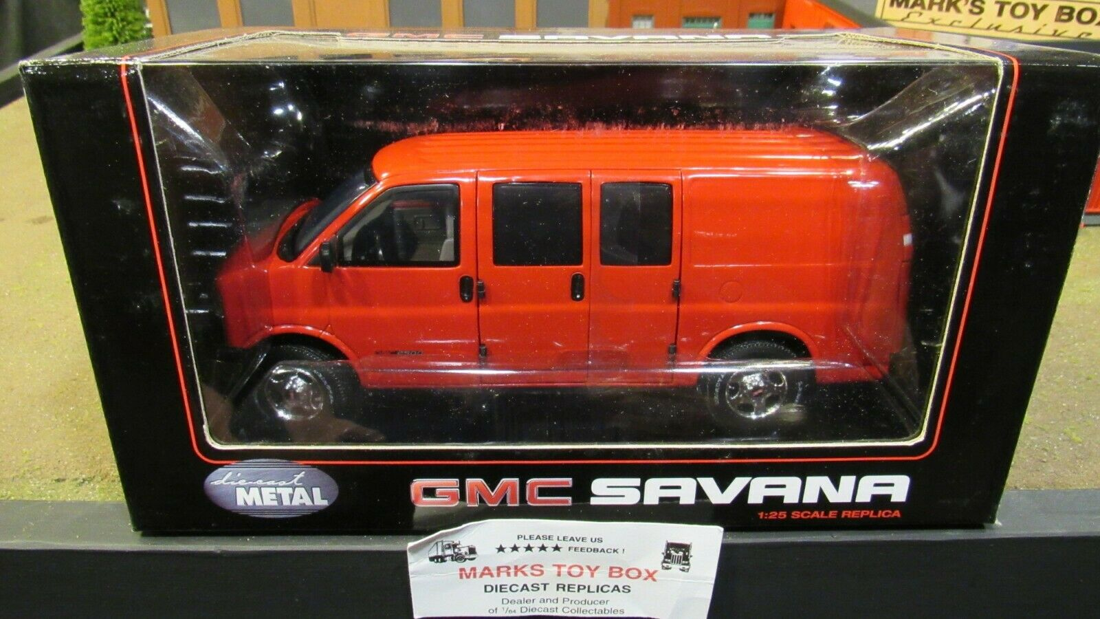 barato y de moda rojo Hwy 61 61 61 DCP GMC Savana van de Cochega de entrega camión 1 25 1 24 cl  mejor vendido