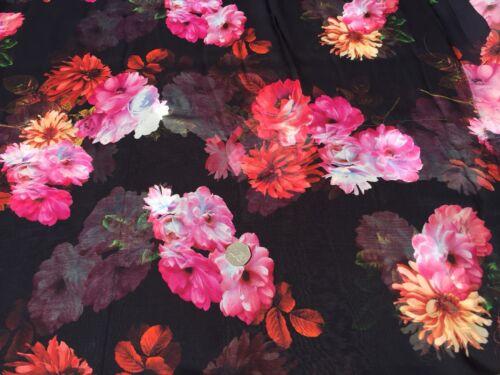 per metre Chiffon Viscose Fabric 100/% dress fabric /'Panama'