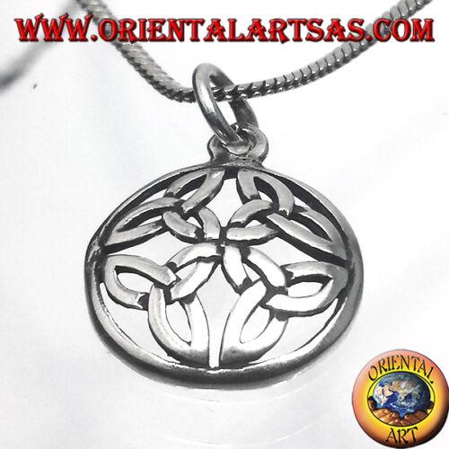 Ciondolo In Argento 925 ‰ Nodo Di Duleek Simbolo Celtico Medio