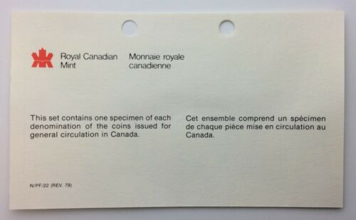 1979 Canada Specimen Royal Canadian Mint RCM Uncirculated Coin Set A260
