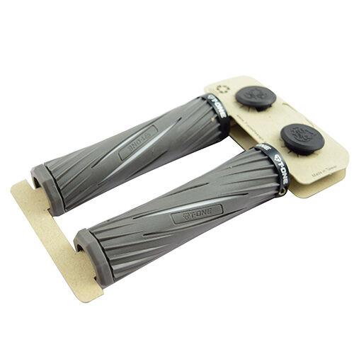 T-ONE GRIPS MTB BMX BIKE Gray  White //USPS T-GP31 Single lock ring grip BIKE