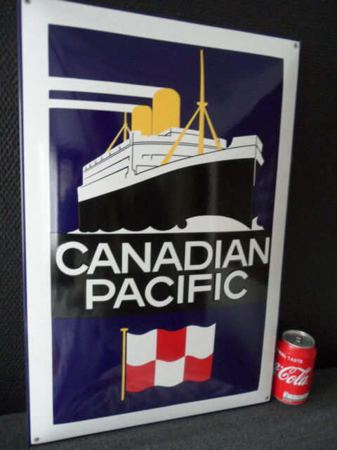 Canadian Pacific Cruise Line Boat - HQ Steel & Porcelain / Enamel / Sign # 52