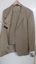 HUGO BOSS Einstein/Sigma beige tan 3 button wool twill suit 40R 34 x 32 US