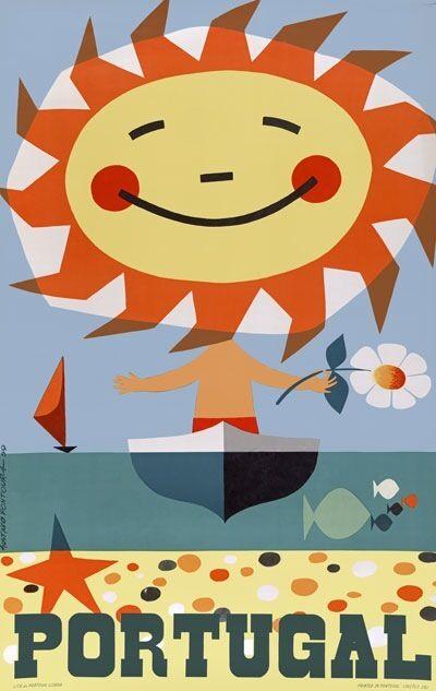 TX245 Vintage 1950's Portugal Sun Travel Poster Re-Print A1/A2/A3/A4