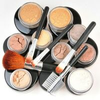 15 Xl Makeup Kit Medium Minerals W/ 5 Brush Great Cover Bare Skin Sheer Finish