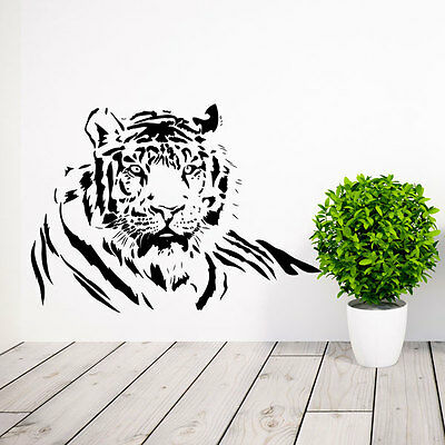 Large Tiger Cat Wild Animal Vinyl Wall Sticker-Decal Bedroom Lounge Home Decor