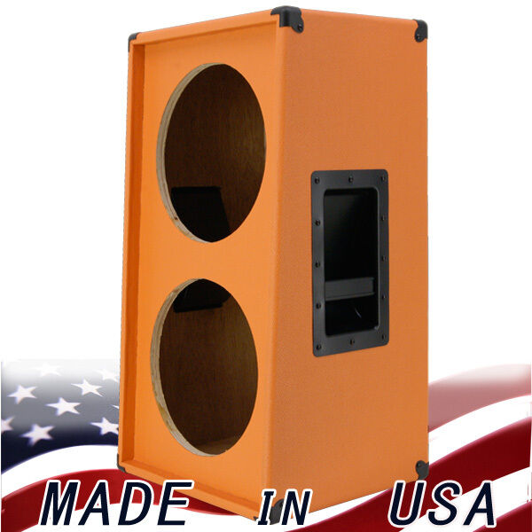 2X12 Grünical Slanted guitar Speaker Cabinet Empty  Beauty Orange G2X12VSL