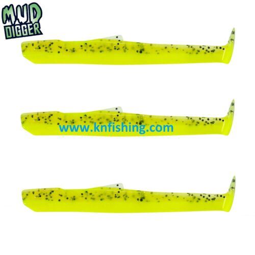 FIIISH/_/'/'MUD DIGGER/'/'/_90mm/_NEW/_SILICON/_LURES/_BODIES/_MD100/_SALTWATER/_FRESHWATER
