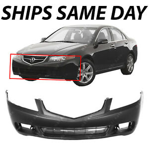 NEW Primered Front Bumper Cover Replacement Fascia For - Acura tsx bumper