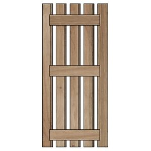 Internal Solid Oak Cottage Door Kit (Random Width Boards) with Screws & Plugs