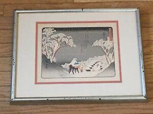 Hiroshige-Japanese-Art-Print-Winter-Scene-Fujikawa-53-Stations-of-Tokaido