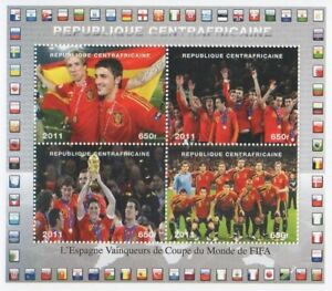 2010-FIFA-WORLD-CUP-SPAIN-SPANISH-FOOTBALL-TEAM-WINNERS-MNH-STAMP-SHEETLET