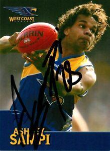 Signed-2006-WEST-COAST-EAGLES-AFL-Premiers-Card-ASHLEY-SAMPI