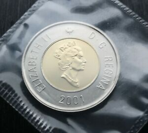 CANADA-TOONIE-2001-PROOF-LIKE-SEALED-COIN