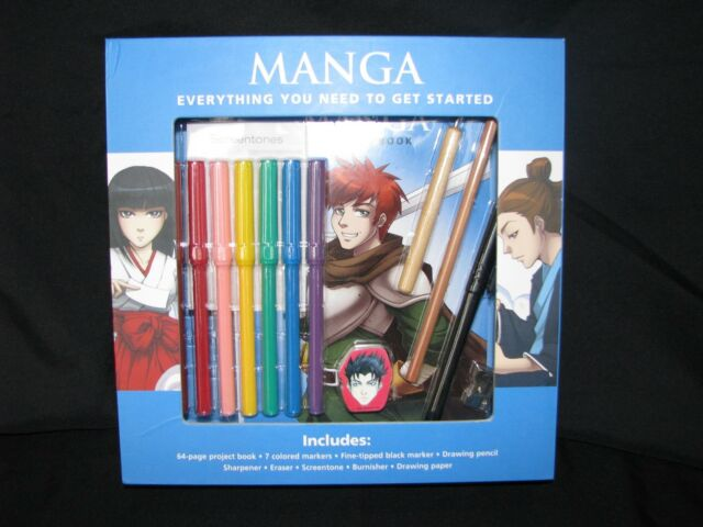 Manga: Everything You Need to get Started Drawing Set Kit Book Markers Beginners