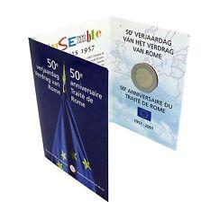 BELGICA 2007 2 EUROS TRATADO DE ROMA COINCARD CARTERA