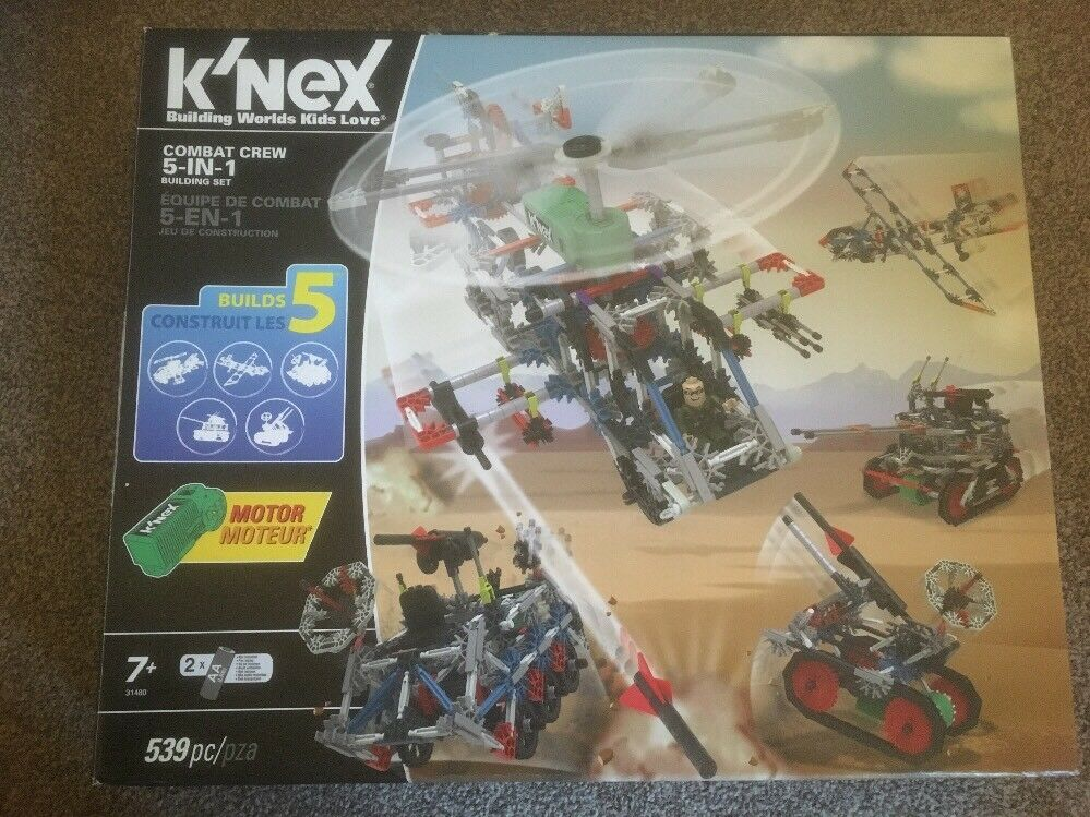 K'NEX Combat Crew 5-in-1 Building Set for Ages 7+ Construction Educational Toy
