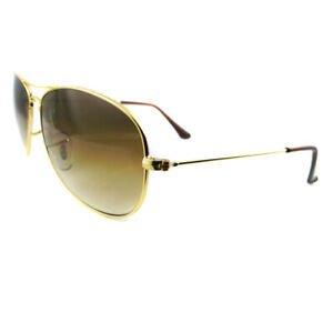 7f8cae3bc2 Ray-Ban Sunglasses Cockpit 3362 001 51 Gold Brown Gradient Small ...