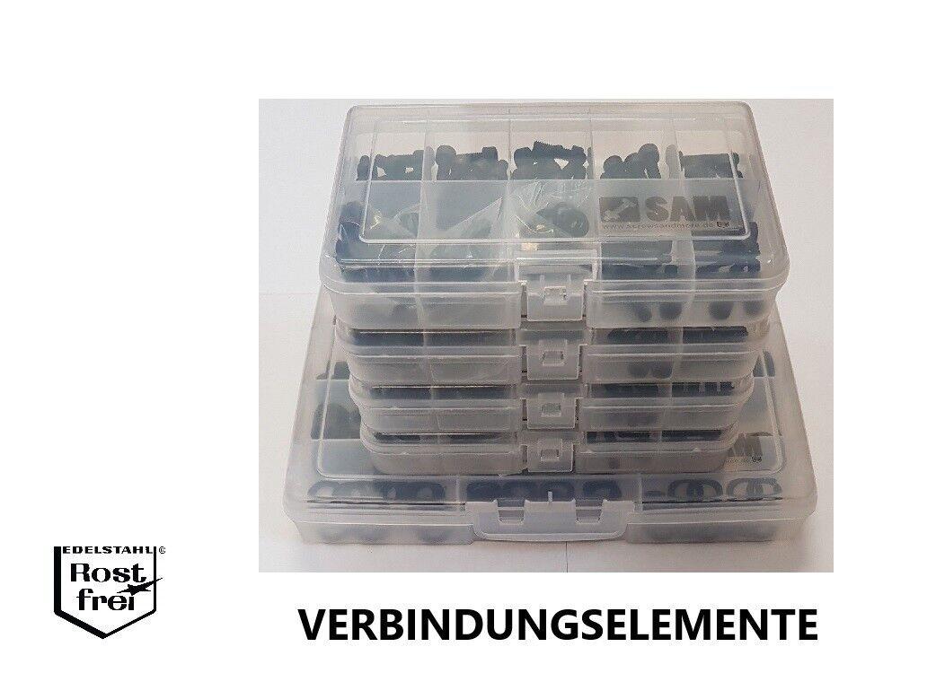 Schwarze Schraubensortimente EDELSTAHL DIN ISO 912 7380 7991 7985 965 7981 7982     | Creative