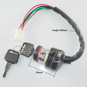 6 wire ignition switch gas scooter ice bear dirt bike gy6 ... ignition switch wiring diagram honda #10