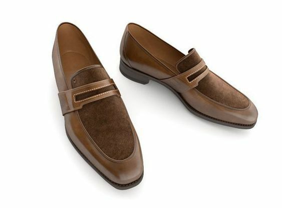 alla moda Handmade Handmade Handmade Leather Tow Tone Tan Suede Loafers for Uomo Custom scarpe for men  il più economico