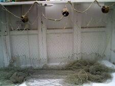 Pezzo di vintage nylon spratto rete da pesca con sughero 3 CARRI