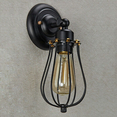 E27 Vintage Style Industrial Mini Cage Wall Sconce  Loft Ceiling EDISON Light